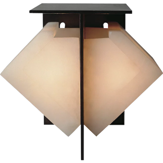 Pierre Chareau reedition double sided sconce