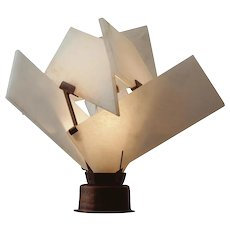 "Pierre Chareau reedition ""Flower"" lamp"