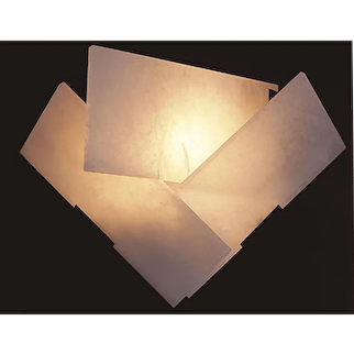 """Pierre Chareau reedition """"Fly"""" sconce on panel"""