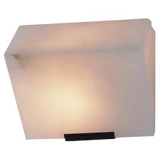 "Pierre Chareau reedition simple ""Sloping block"" 5.7'' sconce"