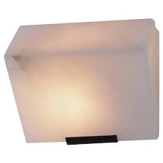 """Pierre Chareau reedition simple """"Sloping block"""" 7.3'' sconce"""