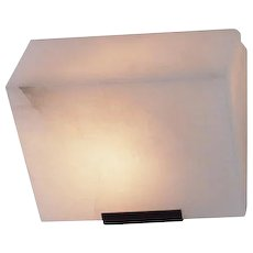 """Pierre Chareau reedition simple """"Sloping block"""" 230 mm sconce"""