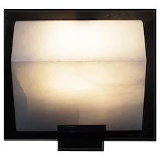 """Pierre Chareau reedition simple """"Sloping block"""" 9.1'' sconce"""