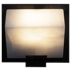 """Pierre Chareau reedition simple """"Sloping block"""" 5.7'' sconce"""