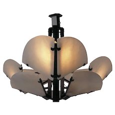 "Pierre Chareau reedition ""Quart de rond"" ceiling lamp"