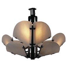 """Pierre Chareau reedition """"Quart de rond"""" ceiling lamp"""