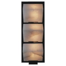 "Pierre Chareau reedition triple ""Sloping block"" 5.7'' sconce"