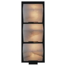 "Pierre Chareau reedition triple ""Sloping block"" 9.1'' sconce"