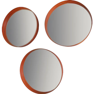 Three vinyl mirrors