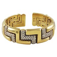 Bvlgari Diamond 18K Yellow Gold Bracelet