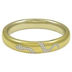 Pomellato Diamond & 18K Yellow Gold Snake Bracelet
