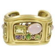 Kieselstein-Cord Pink & Green Tourmaline 18K Green Gold Bracelet