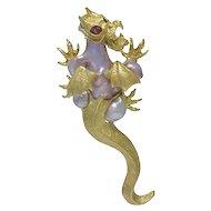 Ruven Perelman Baroque Pearl 18K Yellow Gold Dragon Brooch