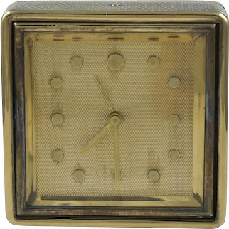 Boucheron Silver & 18K Yellow Gold Travel Clock