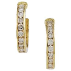 Hammerman Bros. Diamond & 18k Yellow Gold Earrings