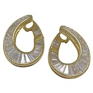 Bvlgari Baguette Diamond 18K Yellow Gold Earrings