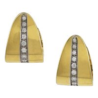 Pomellato Diamond & 18K Yellow Gold Earrings