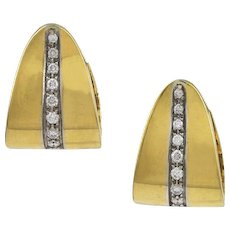 Pomellato Diamond & 18K Yellow Gold Earrings