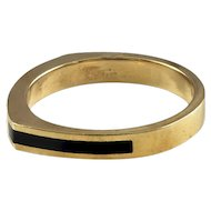 Lee Marraccini Onyx & 14K Yellow Gold Ring
