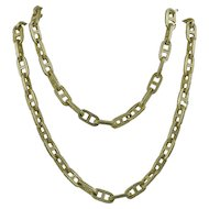 Hermes 18K Yellow Gold Necklace