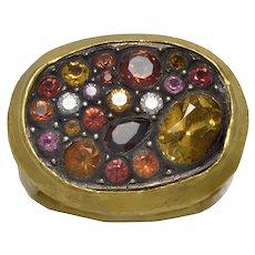 Yossi Harari Sara Orange Mosaic 24K Yellow Gold Ring