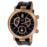 V.C.A. Monsieur Arpels Alarm GMT 18K Rose Gold Watch