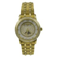 Blanpain Ladies Diamond Face 18K Yellow Gold Watch