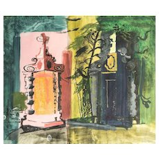 A Signed Water Colour By John Piper