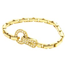 Cartier Agrafe Yellow Gold and Diamond Bracelet