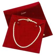 Cartier Agrafe Yellow Gold and Diamond Necklace