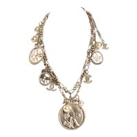 Chanel Medallion Charm Necklace
