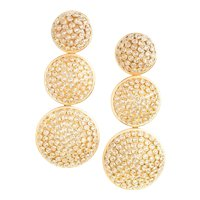 Emily & Ashley 18k Yellow Gold and Diamond Earrings