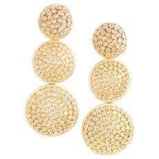 Emily & Ashley 18k Yellow Gold and Diamond Earrings