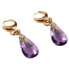 Pomellato Amethyst Pendant Earrings