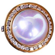 Tiffany Mabe Pearl and Diamond Ring