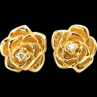 Tiffany & Co.  Diamond Rosette Earrings