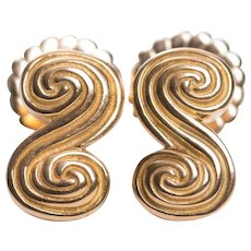 Tiffany Co. 18k Yellow Gold Scroll Earrings
