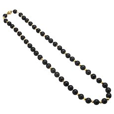 Verdura Ebony and 18K Byzantine Necklace
