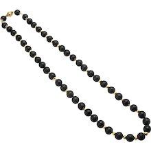 Verdura Ebony and 18K Byzantine Necklace