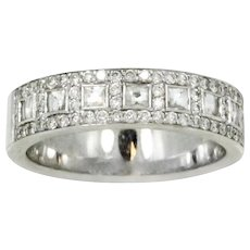 Bez Ambar 18K White Gold Diamond Band