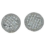 18K White Gold Bez Ambar Blaze Diamond Earrings