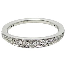 White Gold Pave Diamond Band Ring
