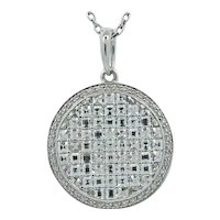 18K White Gold Bez Ambar Diamond Pendant