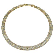 18K Tri Color Gold Bulgari Choker