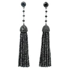 Ivanka Trump Black Diamond Earrings