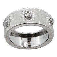 18K White Gold Buccellati Diamond Band Ring