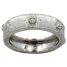 18K White Gold Buccellati Classica Band Ring