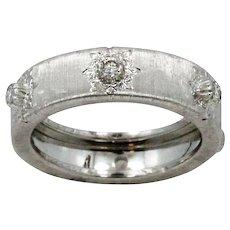 18K White Gold Buccellati Classica Band Ring