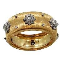 18K yellow Gold Buccellati Macri Band Ring