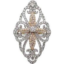 2.00 Carat Diamond White and Rose Gold Ring